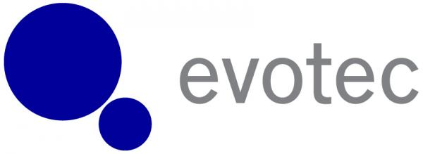 Evotec logo blue and grey